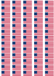 Betsy Ross Flag Stickers - 65 per sheet